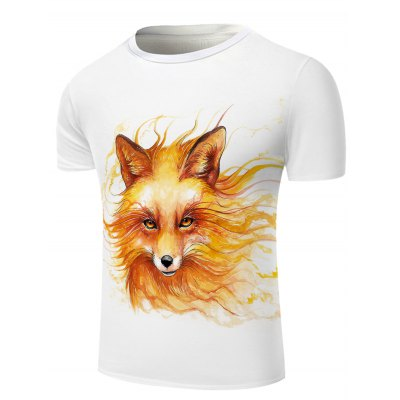 White Round Neck Cool Wolf Head Pattern Slimming Short Sleeves 3D T-Shirt For MenMens Short Sleeve Tees<br>White Round Neck Cool Wolf Head Pattern Slimming Short Sleeves 3D T-Shirt For Men<br><br>Material: Cotton Blends<br>Sleeve Length: Short<br>Collar: Round Neck<br>Style: Fashion<br>Weight: 0.231kg<br>Package Contents: 1 x T-Shirt<br>Embellishment: 3D Print<br>Pattern Type: Animal