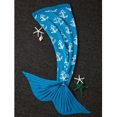 Warmth Anchor Design Knitting Mermaid Tail Shape Blanket
