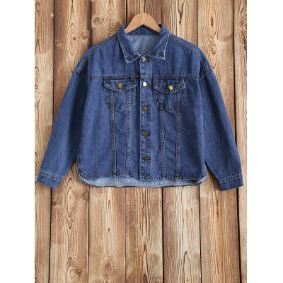 Pocket Design Buttoned Denim Jacket