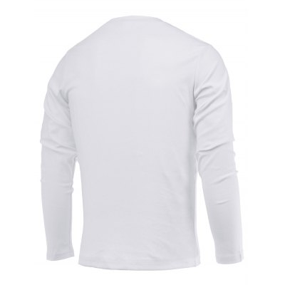 Brief Style Letter Print Round Neck Long Sleeve Tee For Men