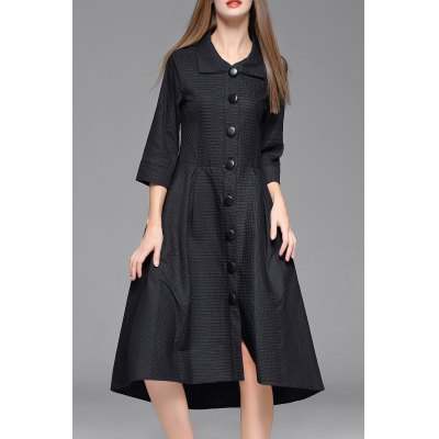 Midi Single Breasted Coat Dress