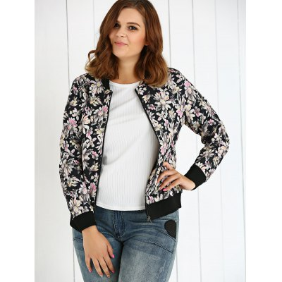 Plus Size Floral JacketPlus Size Outerwear<br>Plus Size Floral Jacket<br><br>Clothes Type: Jackets<br>Material: Polyester<br>Type: Slim<br>Clothing Length: Regular<br>Sleeve Length: Full<br>Collar: Stand-Up Collar<br>Pattern Type: Floral<br>Embellishment: Spliced<br>Style: Fashion<br>Season: Fall,Spring,Winter<br>Weight: 0.555kg<br>Package Contents: 1 x Jacket