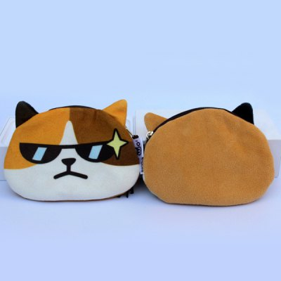 Creative Animal Face Coin PurseCoin Purse &amp; Card Holder<br>Creative Animal Face Coin Purse<br><br>Gender: For Women<br>Style: Casual<br>Closure Type: Zipper<br>Pattern Type: Character<br>Main Material: Suede<br>Length: 13.5CM<br>Height: 9.5CM<br>Weight: 0.039kg<br>Package Contents: 1 x Coin Purse
