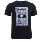 BoyNewYork Camo PU Leather Applique T-Shirt