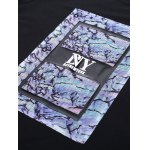 BoyNewYork Camo PU Leather Applique T-Shirt for sale