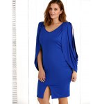 cheap Cold Shoulder Asymmetrical Slit Dress