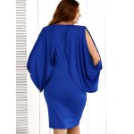 Cold Shoulder Asymmetrical Slit Dress for sale