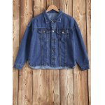 Buttoned Pocket Design Denim Jacket
