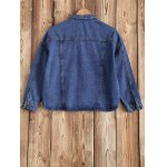 cheap Buttoned Pocket Design Denim Jacket