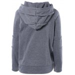 cheap Pullover Hoodie with Zip Design