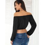 Off-The-Shoulder Long Sleeves Crop Top for sale