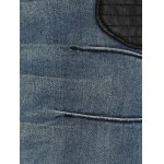 best Plus Size Appliqued Crease Pencil Jeans