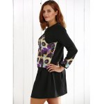 Plus Size Floral Sweatshirt and Mini Skirt for sale