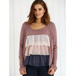 Plus Size Long Sleeve Layered Cardigan deal