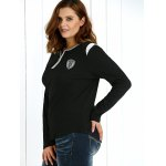 Plus Size Zipper Embellished Pullover for sale