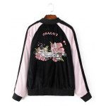 cheap Flower Embroidery Long Sleeve Jacket