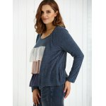 Plus Size Long Sleeve Layered Cardigan for sale