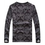 best Floral and Figure Print Round Neck Long Sleeve Sweatshirt