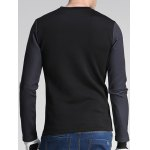 cheap Number Five and Stripe Print Round Neck Long Sleeve Sweatshirt