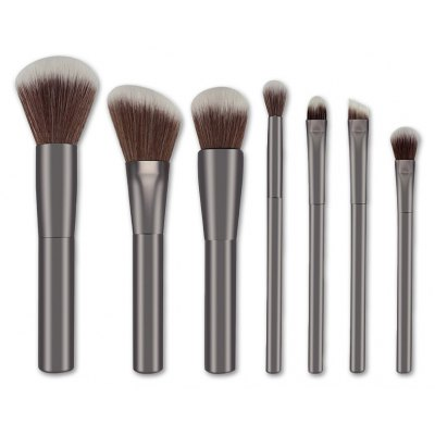 7 Pcs Nylon Face Eye Lip Makeup Brushes Set