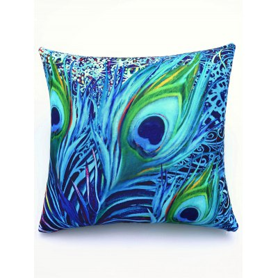 Super Soft Colorful Feather Pattern Square Shape Pillowcase
