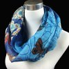 cheap Casual Handpainted Butterfly Flower Pattern Voile Neck Scarf