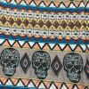 cheap Ethnic Skull and Geometry Pattern Voile Neck Scarf
