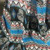 cheap Ethnic Skull and Geometry Pattern Voile Scarf