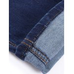 Buttons Design Zipper Fly Slim Fit Jeans photo