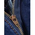 Buttons Design Zipper Fly Slim Fit Jeans for sale