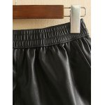 Plus Size Elastic Waist Faux Leather Shorts deal