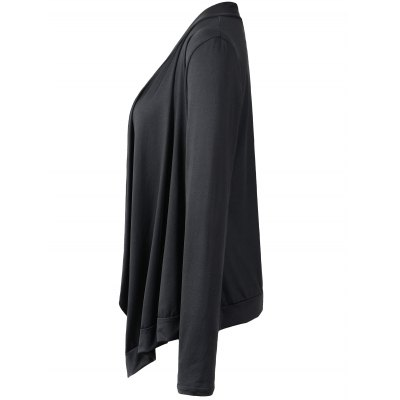 Asymmetrical Ruched Thin Outerwear