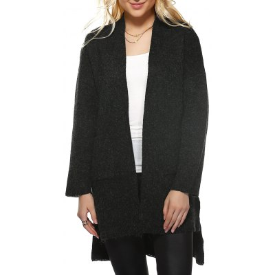 Hem Knitted Coat
