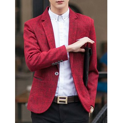 Lapel Long Sleeve Blazer