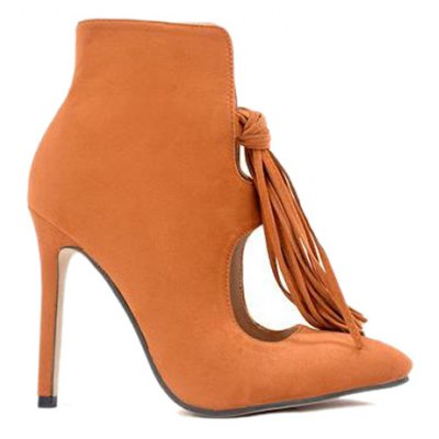 Tassels Hollow Out Ankle Boots