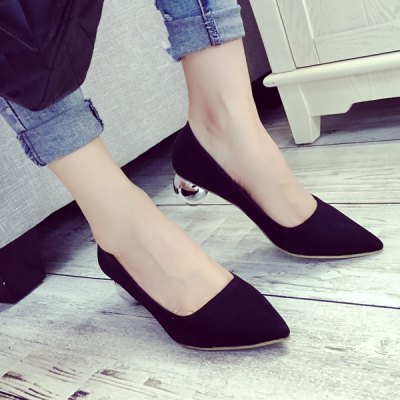 Pointed Toe Strange Style Metal Pumps