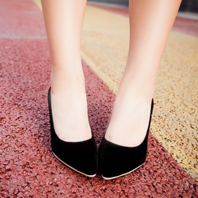 Point Toe Suede Pumps