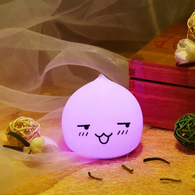 LED Emoticon Waterdrop Cartoon Night Light Ombre