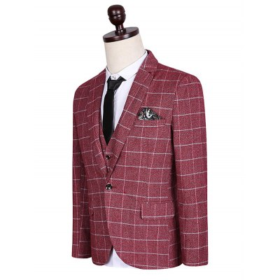 Plus Size Lapel Single Breasted Checked Pattern Long Sleeve Three-Piece Suit ( Blazer + Waistcoat + Pants )Plus Size Outerwear<br>Plus Size Lapel Single Breasted Checked Pattern Long Sleeve Three-Piece Suit ( Blazer + Waistcoat + Pants )<br><br>Clothes Type: Others<br>Style: Fashion<br>Material: Cotton,Polyester<br>Collar: Turn-down Collar<br>Clothing Length: Regular<br>Sleeve Length: Long Sleeves<br>Season: Fall,Spring<br>Weight: 1.900kg<br>Package Contents: 1 x Blazer  1 x Waistcoat  1 x Pants