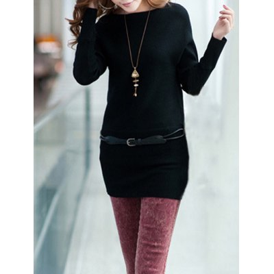 Long Sleeves Knitted Dress