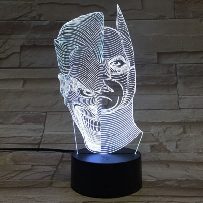 Colorful Double Faced Shape 3D Visual Touching Ombre Night Light