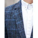 One-Button Checked Lapel Long Sleeve Blazer deal
