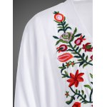 Embroidered Plus Size Casual Flower Dress photo