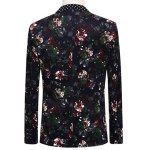 Lapel One Button Design Flowers and Polka Dot Pattern Long Sleeve Suit (Blazer + Pants) deal