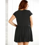 Scoop Neck Overlay Ruched Romper for sale