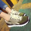cheap Splicing Color Block Tie Up Athletic Shoes