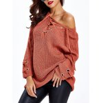 Lace Up Criss-Cross Long Sweater deal