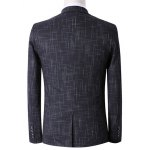Plus Size Lapel Single Breasted Geometric Print Long Sleeve Three-Piece Suit ( Blazer + Waistcoat + Pants ) for sale