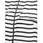 best Zip Front Striped Blouse