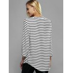 Zip Front Striped Blouse for sale